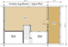 aspen log home plan loft