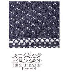 Háčkovaný vzor Vejáriky | Klbkovlny, vlna na pletenie