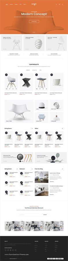 Nego is a clean and modern design 11in1 responsive #shopifytheme for #minimalist clothing, kids, bags, cosmetics, furniture and fashion #webshop eCommerce website to download & live preview click on image or Visit 👆 #webdesign  >>>> More on http://HTML5Themes.org <<<<