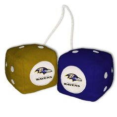 Baltimore Ravens Plush Fuzzy Dice