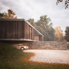 Strom+Architects+designs+a+countryside++house+protruding+over+a+wall