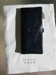 Borgasets High-End Handmade Handcrafted Women's Soft Leather Wallet in Blue #Borgasets #Clutch