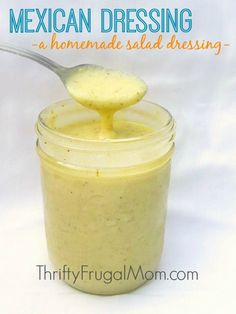 This slightly sweet, creamy dressing goes wonderfully with nearly any salad. It's super easy to make and is made with simple, basic ingredients.
