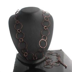 """Joan Rivers Brown Plating Cascade of Rings 48"""" Necklace w/3"""" Extender 205O #JoanRivers #Link"""
