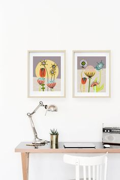 Cheerful and full of mid century flair. Available in multiple sizes. Mid Century Wall Art, Mid Century Modern Art, Mid Century Decor, Scandinavian Art, Modern Art Prints, Kitchen Art, Botanical Prints, Modern Decor, Interior Inspiration
