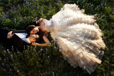 Stunning custom couture wedding dress by Christian Siriano | Country Couture Texas Wedding With Summer Camp Whimsy | Photography by Debra Gulbas Photography  Debra Gulbas Photography  http://www.storyboardwedding.com/romantic-country-couture-texas-wedding-summer-camp-whimsy/
