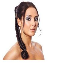 Fishtail-Ponytail-Plait-20-Long-Braid-Honey-Brown-Drawstring-clip-in
