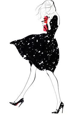 Yoco Nagamiya. Fashion illustration on Artluxe Designs. #artluxedesigns