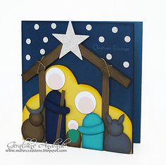 Mafer's Creations: PUNCH ART NATIVITY - A CRIB MADE WITH troqueladores  12/15/11