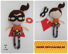 superhero girl, superwoman, dress up doll, ragdoll, la loba