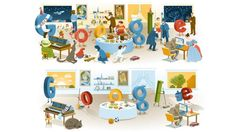 Google has released its final Google Doodle of 2012 and its first of 2013 -- a before-and-after party picture. The search giant is known for crafting exceptional New Year-centri...