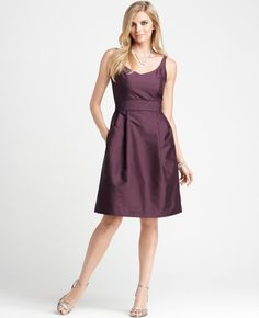 Ann Taylor Bridesmaid dress in vino, option 1