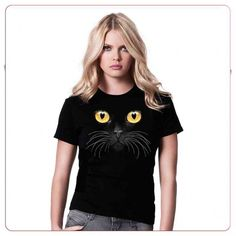Cadouri pentru iubitorii de animale – Tricou Pisica neagra T Shirts For Women, Tops, Fashion, Moda, La Mode, Shell Tops, Fasion, Fashion Models, Trendy Fashion