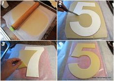 how to make the decorated number cake Number Birthday Cakes, Number Cakes, Royal Icing Piping, Birtday Cake, Ideas Para Fiestas, Sweet Cakes, Cream Cheese Frosting, Letters And Numbers, Pavlova