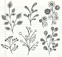 Vector Illustration of Hand-Drawn Flowers and Leaves Sketchy .- Vector Illustration of Hand-Drawn Flowers and Leaves Sketchy Notebook… Hand drawn notebook doodles sketchy leaves royalty-free stock vector art - Doodle Art, Doodle Design, Zen Doodle, Doodle Drawings, Doodle Images, Design Art, Tangle Doodle, Type Design, Web Design