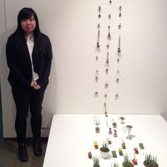 Mylyn Nguyen at her exhibition opening.