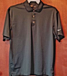 Mens NIKE Short Sleeve Shirt Size L Dress or Casual