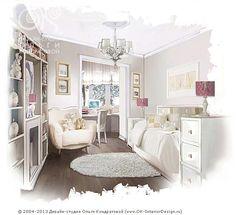 Детская комната для девочки  http://www.ok-interiordesign.ru/ph_dizain-detskoy-komnaty.php