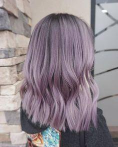Ash Purple Hair, Ash Hair, Purple Ombre, Pastel Lilac Hair, Green Hair, Smoke Hair, Hair Dye Colors, Ombre Hair Colour, Aesthetic Hair