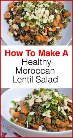 Increase your energy levels and get in shape with this delicious and easy to make Moroccan Lentil Salad! Click for the full recipe