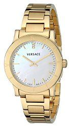 Versace Women's VQA050000 Acron Diamond-Accented Gold-Plated Watch