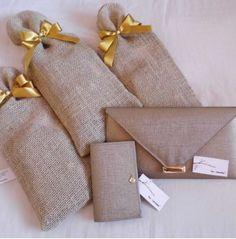 Kit bolsa e carteira para madrinhas