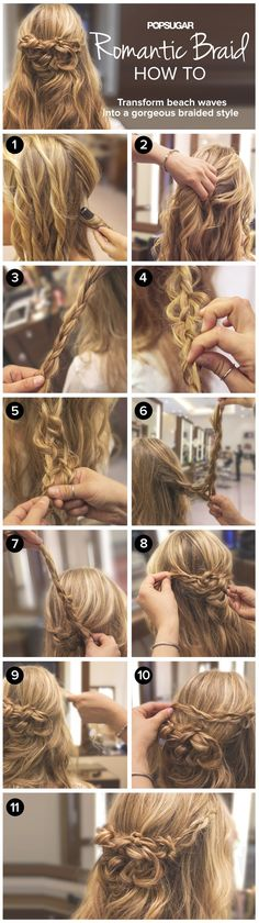 Romantic braid how to // in love with this 'do!