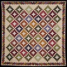 Chimney Sweep block  Barbara Brackman  http://civilwarquilts.blogspot.com/2013/08/civil-war-reproduction-album-quilt.html
