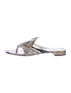Miu Miu Snakeskin Sandals
