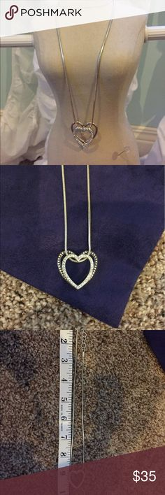 Brighton Double Heart Necklace Brighton Double Heart Necklace is beautiful with any outfit. Floating Heart adds depth with a little bling. Brighton Jewelry Necklaces