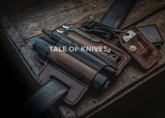 Handmade by our family business in the USA. We proudly make quality over quantity leather gear for everyday carry goods. From hand dyed to hand stitched, we don't cut any corners (unless it's leather of course) shop all of our gear at www.TALEOFKNIVES.com   NewChic and a dozen other fraud international companies are scamming buyers using our product photos. Please protect yourself and don't be fooled. If it's not shipped and sold by us, it's not TOK! #everydaycarry #edc #madeinusa #edcgear… Stitching Leather, Hand Stitching, International Companies, Edc Everyday Carry, Edc Gear, Family Business, Leather Belts, Carry On, Gears