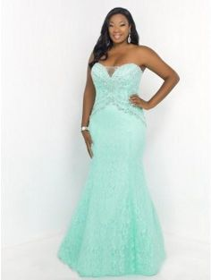 Trumpet/Mermaid Sweetheart Sleeveless Beading Floor-length Lace Plus Size Prom Dresses