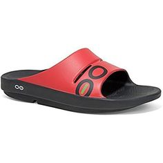 Oofos Ooahh Sport Sandal  Mens BlackRed 7 >>> Details can be found by clicking on the image.(This is an Amazon affiliate link and I receive a commission for the sales)