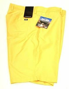 J. LINDEBERG True Regular MICRO TWILL Yellow SHORTS Breathable DURABLE $140