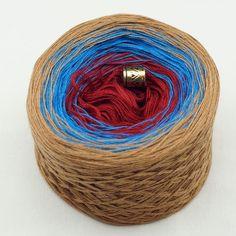 """Farbverlaufsgarn """"Cappuccino"""" Baumwollmischung dreifarbig – Birgit's Wollmarkt"""