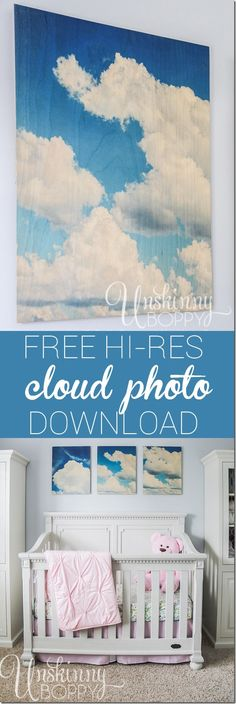 Free hi-res cloud photo download for nursery artwork from @shutterfly. #OurHomeOurStory #ad