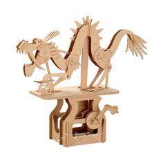 3D Wooden Puzzle Moving Model Kit DIY Moving Mechanical Wooden Automata The…