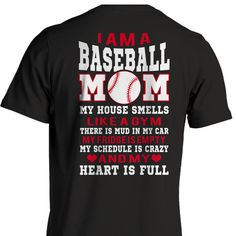 I Am a Baseball Mom, does this sound like you? Check out our whole collection of baseball mom shirts today! Free shipping when you buy 2 or more items!