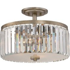 Glam Beveled Glass Ceiling Light - Small - Shades of Light Glass Ceiling Lights, Semi Flush Ceiling Lights, Flush Mount Ceiling, Ceiling Fixtures, Light Fixtures, Ceiling Lighting, Vanity Lighting, Chandelier Lighting, Chandeliers
