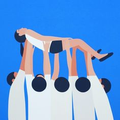 Geoff Mcfetridge is a favorite of mine  such a lovely illustration style #geoffmcfetridge by jessicavwalsh