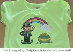 This super cute kid's shirt was made by Mindy Beverly using clip art from DJ Inker's March Doodlers collection!  Happy St. Patrick's Day!  http://www.djinkers.com/clipart/spring/march-doodlers-clipart-download.html