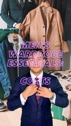 Mens Wardrobe Essentials, Men's Wardrobe, Everyday Outfits, Everyday Fashion, Suit Fashion, Mens Fashion, Winter Outfits, Winter Clothes, Winter Coat