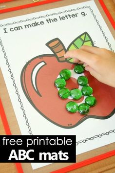 Building Letters Alphabet Mats-Free Printable Apple Theme Activity for Preschool and Kindergarten Preschool Apple Theme, Preschool Letters, Kindergarten Literacy, Alphabet Activities, Literacy Activities, Preschool Activities, Fall Preschool, Kindergarten Apples, Preschool Rules