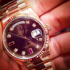 Rolex Rose Gold Day Date http://www.watchcentre.com/catalogue/day-date-watches/69