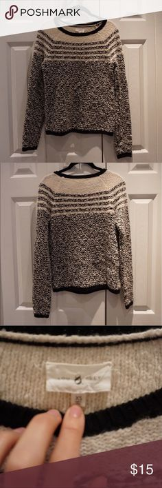 Lou & Grey sweater Only worn once Lou & Grey sweater in black and white/cream Lou & Grey Sweaters