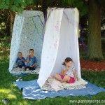 Hula Hoop Hideout for kids this summer (tutorial link)