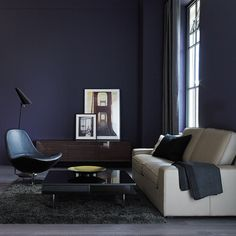 KIVIK three-seat sofa with Grann beige leather and TIRUP swivel armchair with Kavat black leather