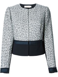 Tory Burch 'lucille' Panelled Tweed Jacket - A.m.r. - Farfetch.com