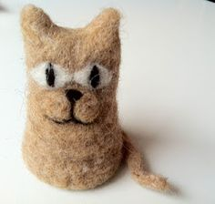 Needle felted cat! Called him 'Herman'