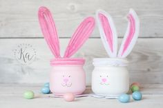Easter mason jar time!  Bunnies and baby chick half pint mason jars! I made these for the nieces and nephews! Many of the jars I make now a days are gifts. Or I try to find new ways to do jars for them just to share with you. They get the 'test' jars from ...